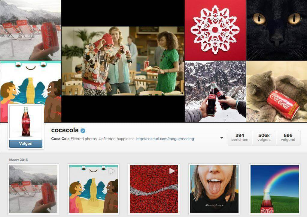 cokeoninsta How Big Brands Boost Their Instagram Fanbase By Millions?